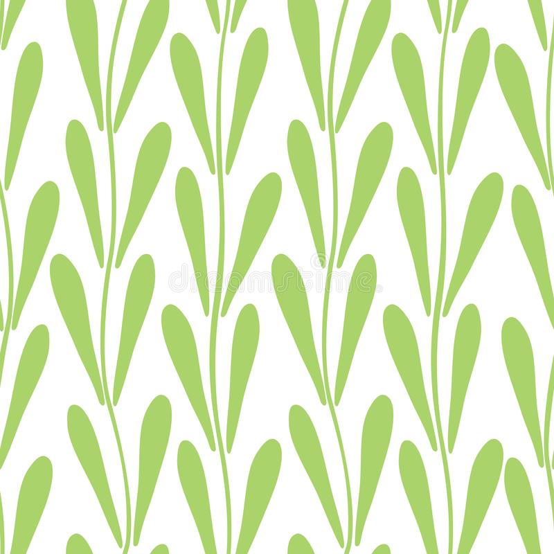 Decorative abstract tulip leaf seamless pattern. vector illustration