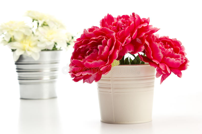 Decorative artificial flowers royalty free stock photo