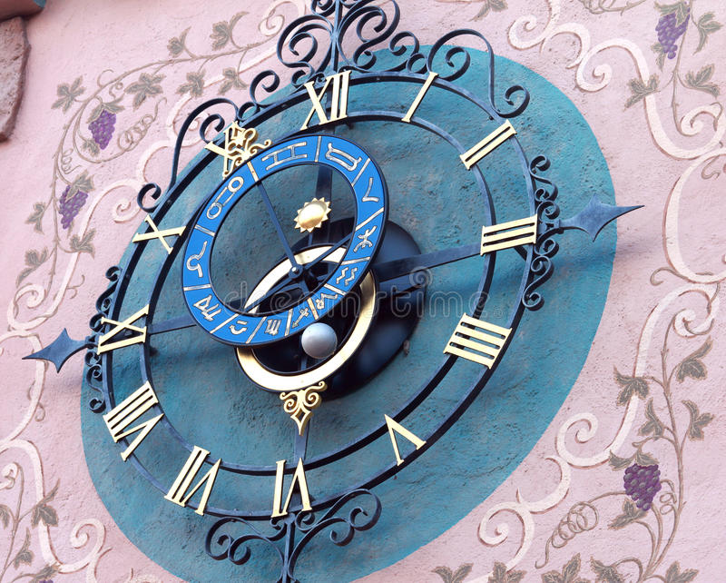 Download Decorative Astronomical Clock Stock Photo - Image: 19350938