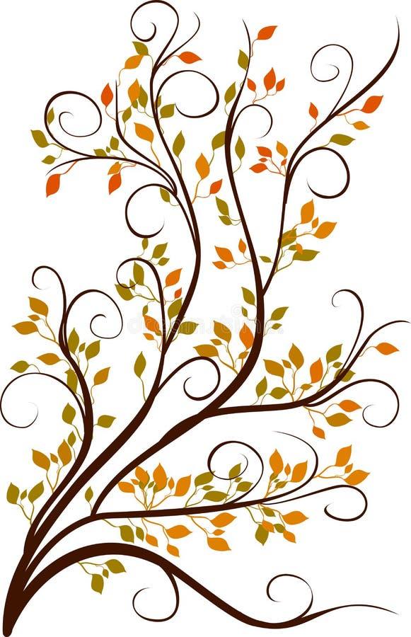 Decorative autumn tree vector illustration