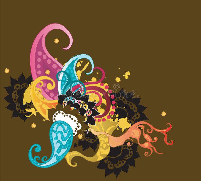 Decorative background stock illustration