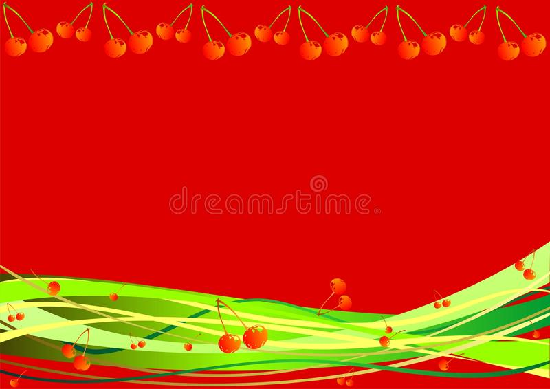 Download Decorative Background With Berries And Stripes Stock Vector - Image: 14400401