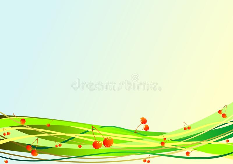 Download Decorative Background With Berries And Stripes Stock Vector - Image: 14401630
