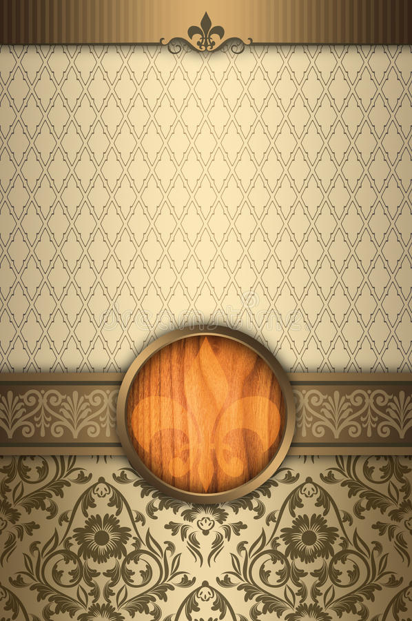 Decorative Background With Elegant Borders And Frame. Stock ...