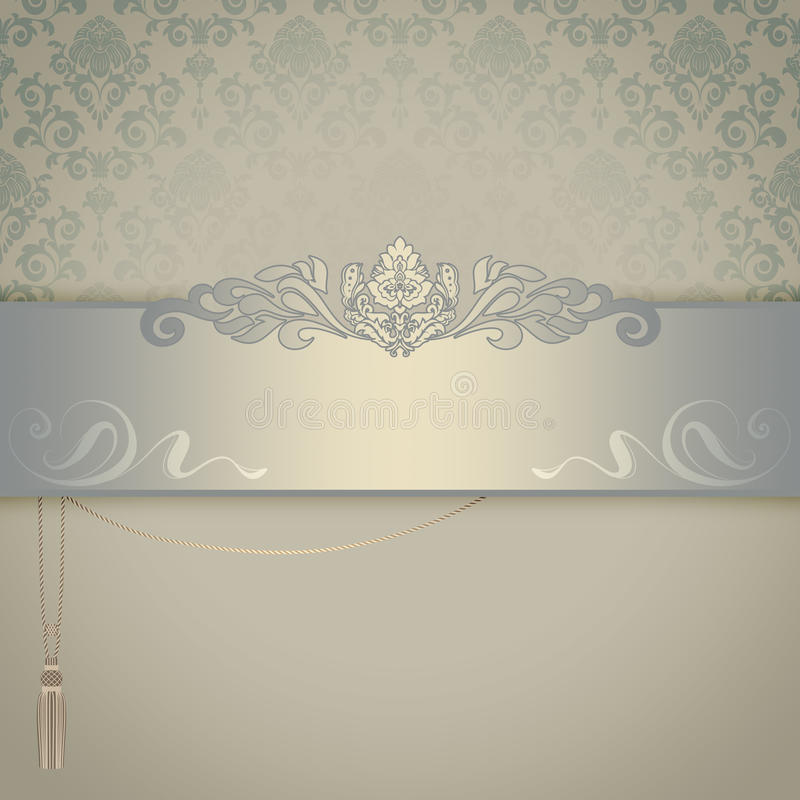 Decorative background with elegant patterns. royalty free illustration
