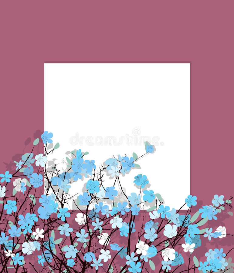 Download Blue flowers card stock vector. Image of ornament, texture - 29788766