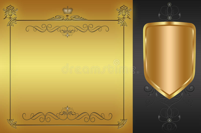 Decorative background with frame. royalty free stock image