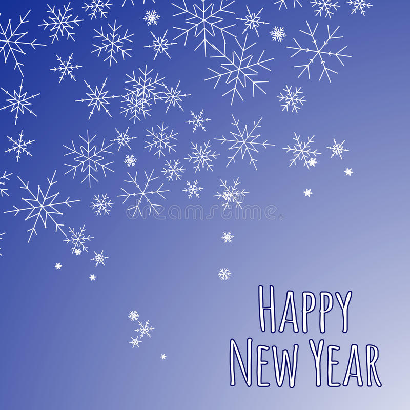 Decorative background for a Happy new year. royalty free stock photo