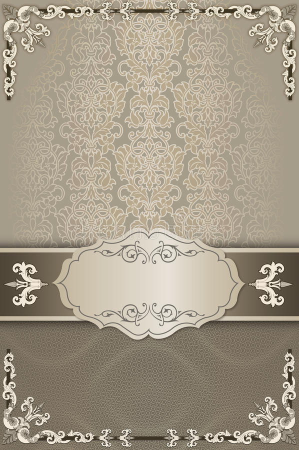 Decorative background with patterns and elegant border. stock photos
