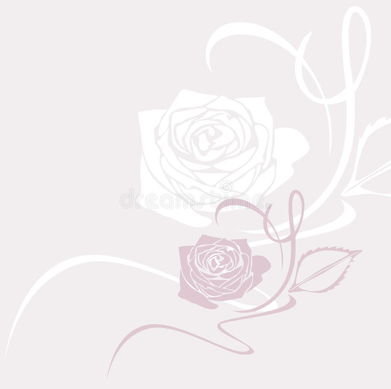 Download Decorative Background With Stylized Rose Stock Vector - Image: 43299142