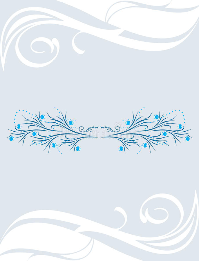 Decorative background. Vintage design for a greeting card royalty free stock images
