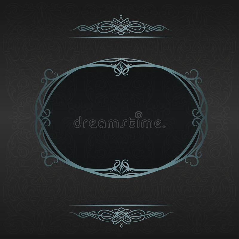 Decorative background with vintage frame. Ornamental texture with vintage frame vector illustration