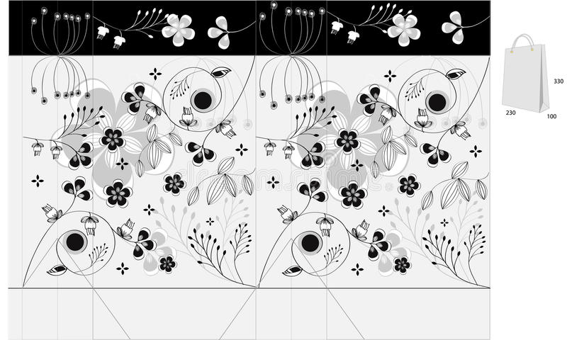 Download Decorative Bag With Floral Ornament Stock Vector - Image: 13205233