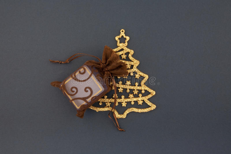 Download Decorative Bag With Gift Boxs With Christmas Tree Stock Photo - Image: 12255650
