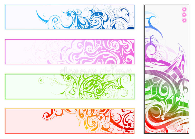 Decorative banners set