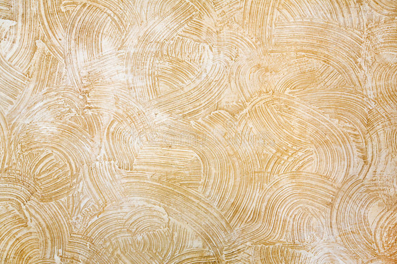 Decorative Beige Plaster Texture On The Wall - Background Stock ...