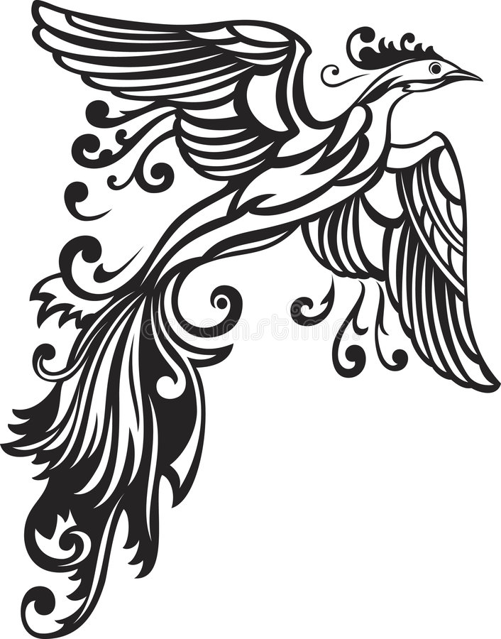 Decorative bird. Vector illustration of decorative bird