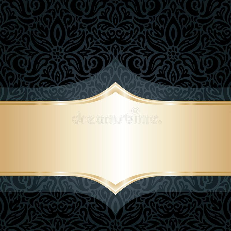 Decorative black royalty free illustration