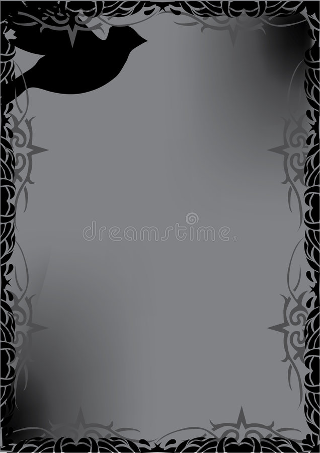 Download Decorative Black Dove Royalty Free Stock Images - Image: 8184799