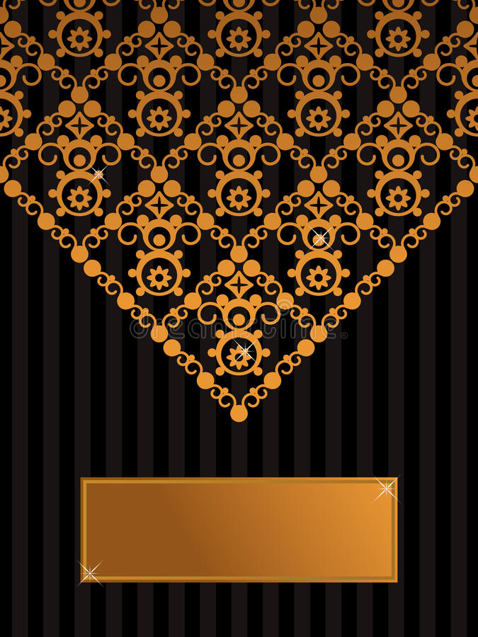 Download Decorative Black And Gold Background Stock Vector - Image: 11349796