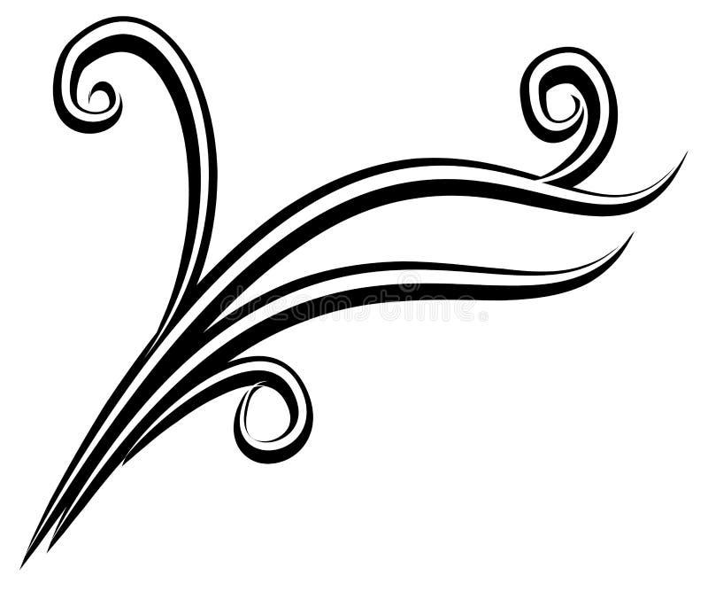 Decorative Black White Design stock photo