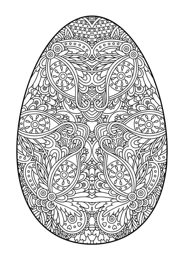 Decorative black and white Easter egg. royalty free illustration