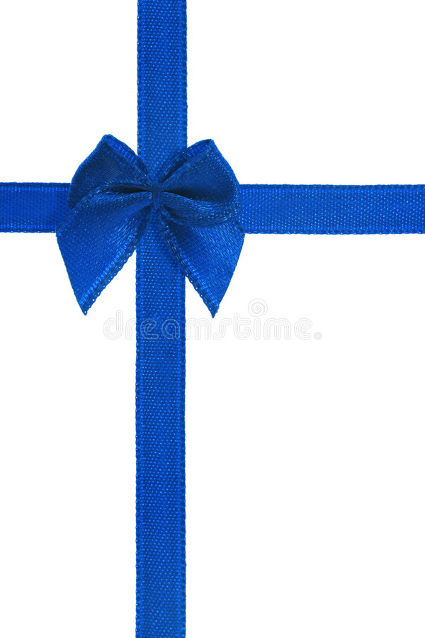 Free Decorative Blue Bow Ribbon Stock Photography - 6340272