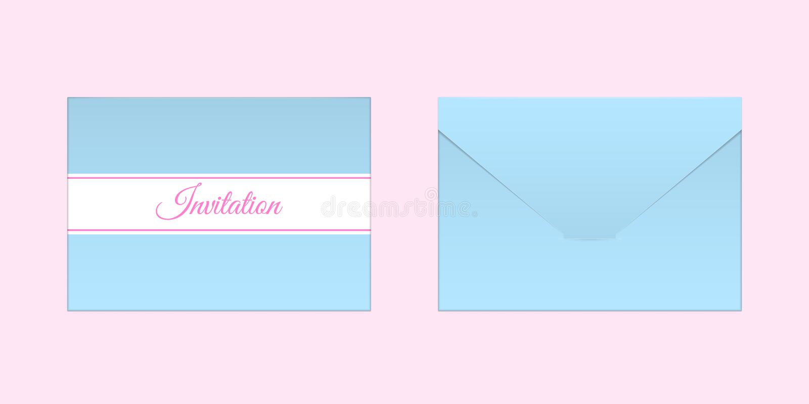 Decorative blue envelope vector mock up stock vector illustration download decorative blue envelope vector mock up stock vector illustration of front invitation stopboris Gallery