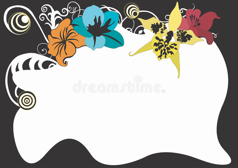 Decorative border. Illustration of a decorative border vector illustration