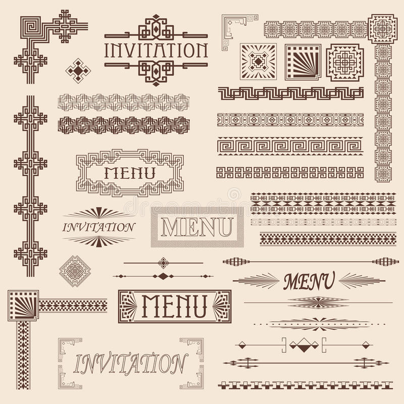 Free Decorative Border Elements Royalty Free Stock Image - 18493386