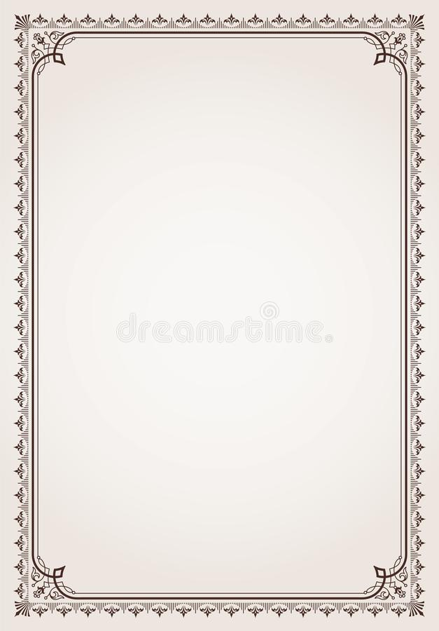 Decorative border frame certificate template royalty free stock images