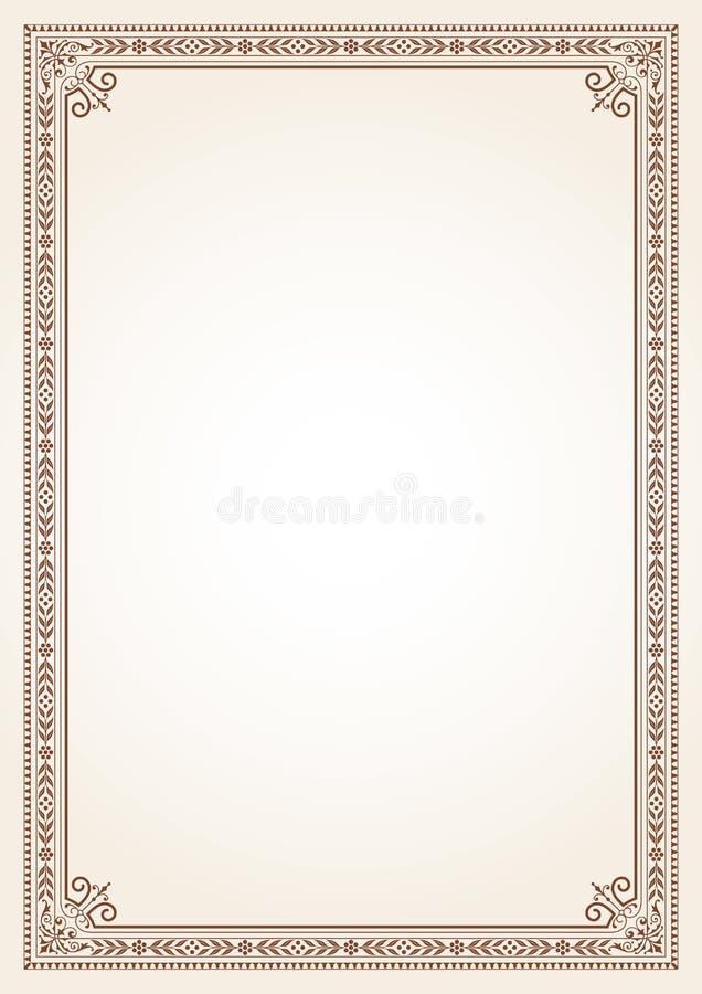 Decorative border frame certificate book cover template stock photos