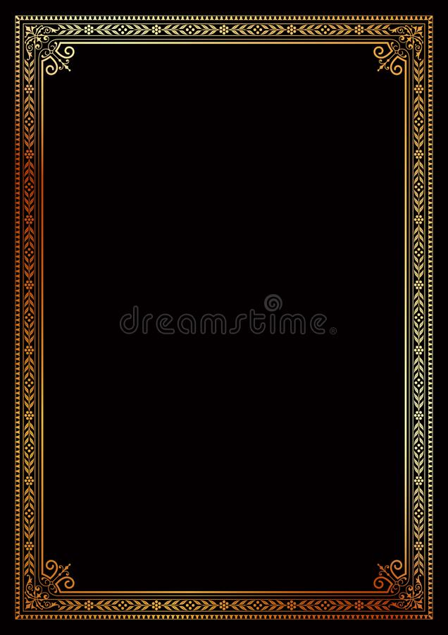 Decorative border frame certificate book cover template stock images