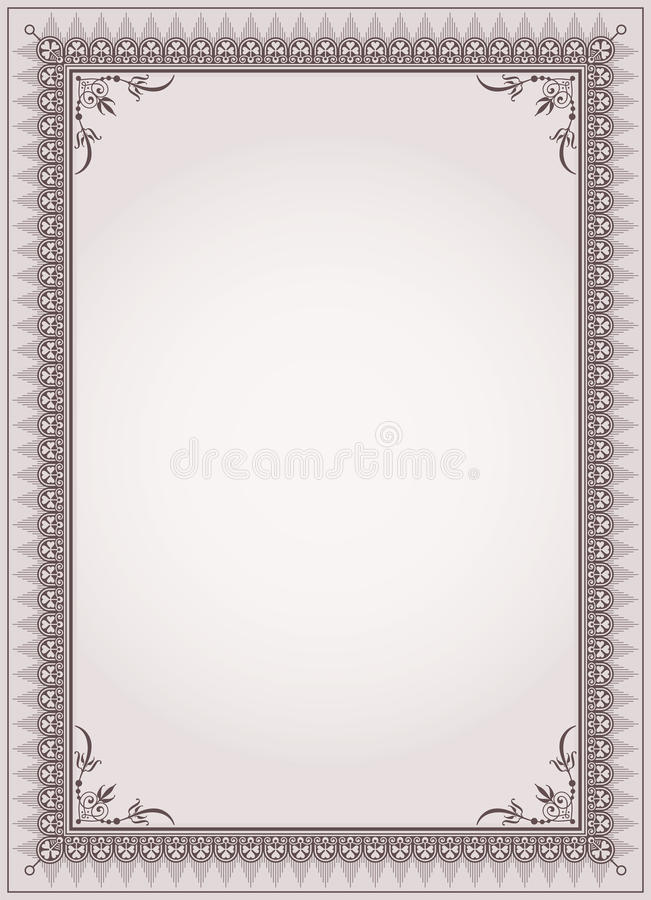Decorative border frame certificate template vector stock vector download decorative border frame certificate template vector stock vector illustration 52557695 yadclub Images