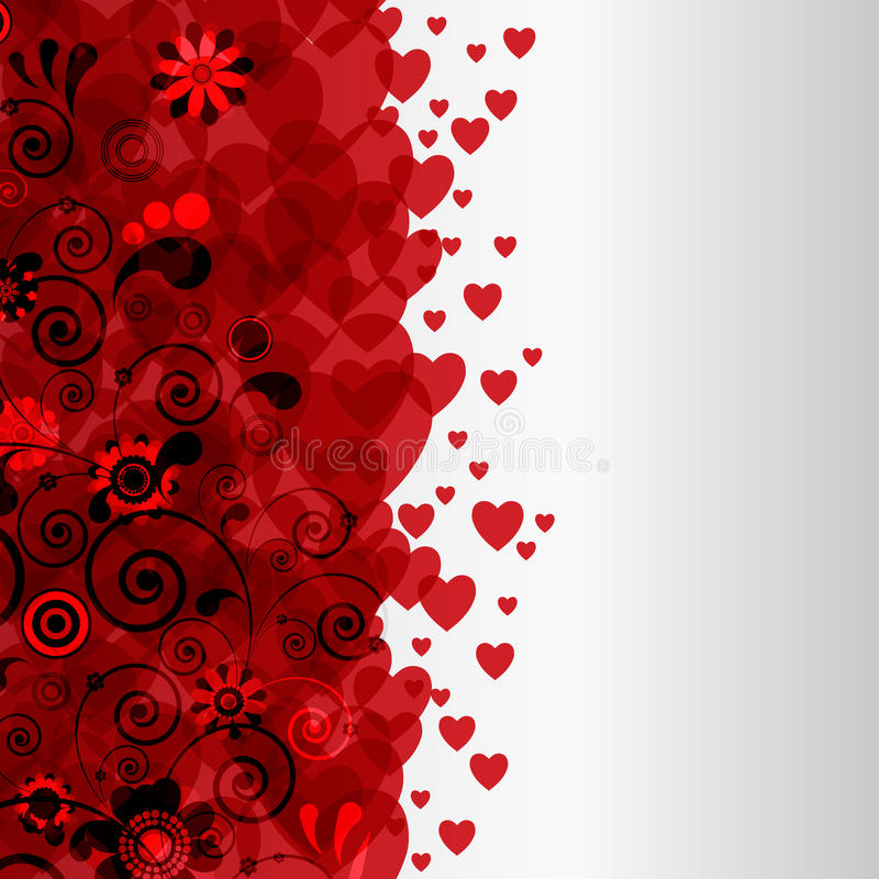 Download Decorative Border With Hearts. Stock Vector - Image: 24053264