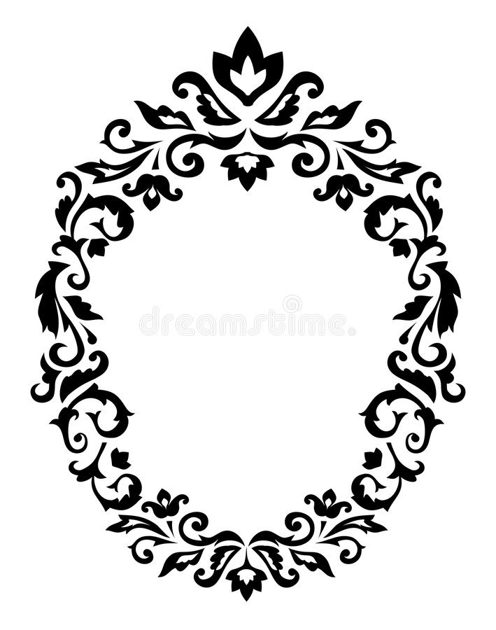 Decorative border ornament stock illustration
