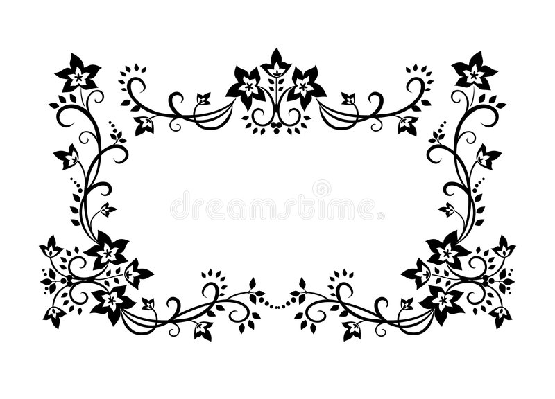 Decorative border ornament royalty free illustration