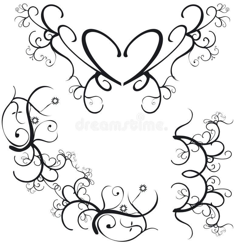 Download Decorative Borders stock vector. Illustration of mirror - 1104665