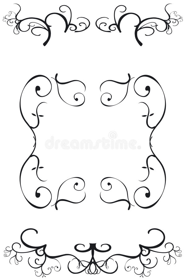 Download Decorative Borders stock vector. Image of calligraphy - 1104667