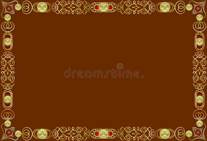 Decorative borders and frames royalty free stock images