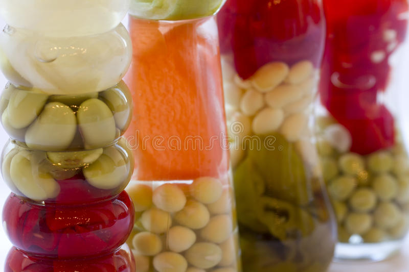 Decorative Bottles With Vegetables Delectable Decorative Bottle With Canned Vegetablesstock Image  Image Review