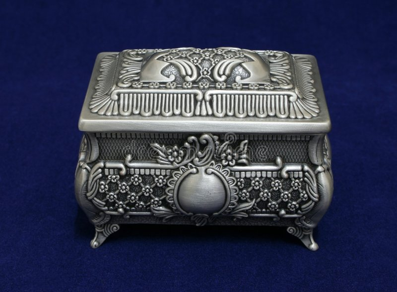 Download Decorative box stock photo. Image of ornamental, silver - 520936