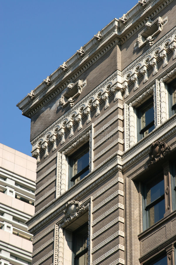 Download Decorative Building Cornice Stock Photo