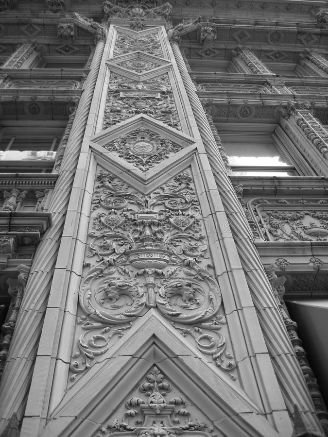 Decorative building detail royalty free stock image
