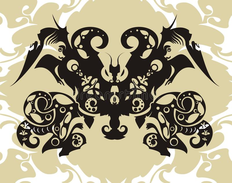Download Decorative butterfly stock vector. Image of ornate, element - 23263838