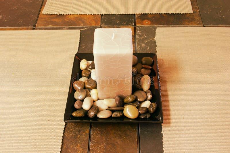 Decorative candle stock photos