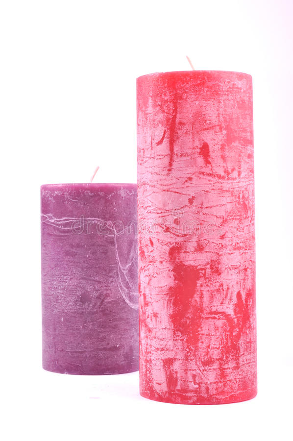 Decorative candles different colors royalty free stock image