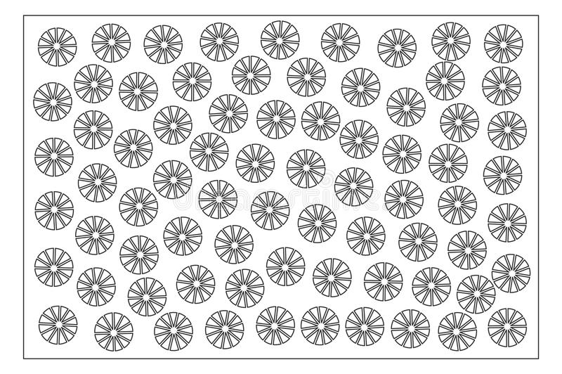 Decorative card for cutting. Ethnic Decorative pattern. Laser cut panel. Ratio 2:3. Vector illustration.  vector illustration