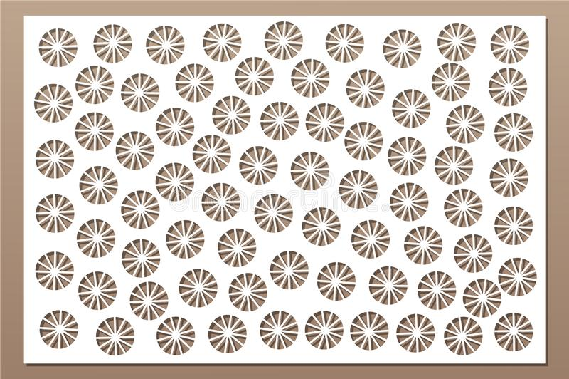 Decorative card for cutting. Ethnic Decorative pattern. Laser cut panel. Ratio 2:3. Vector illustration.  royalty free illustration