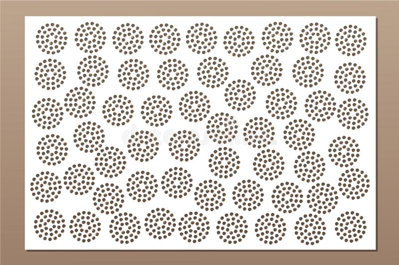Decorative card for cutting. Repeat point pattern. Laser cut panel. Ratio 2:3. Vector illustration.  stock illustration